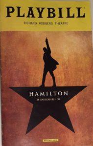 """""""Hamilton"""" Playbill"""