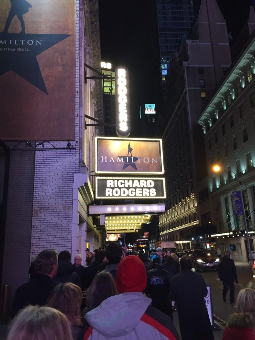 Hamilton at the Rogers Theatre