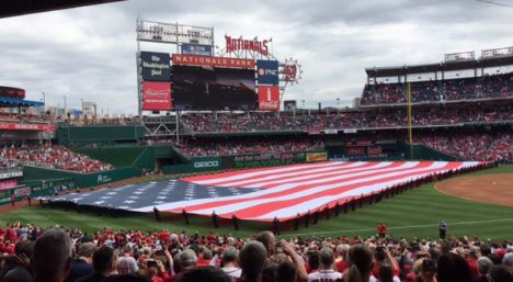Old Glory at Opening Day