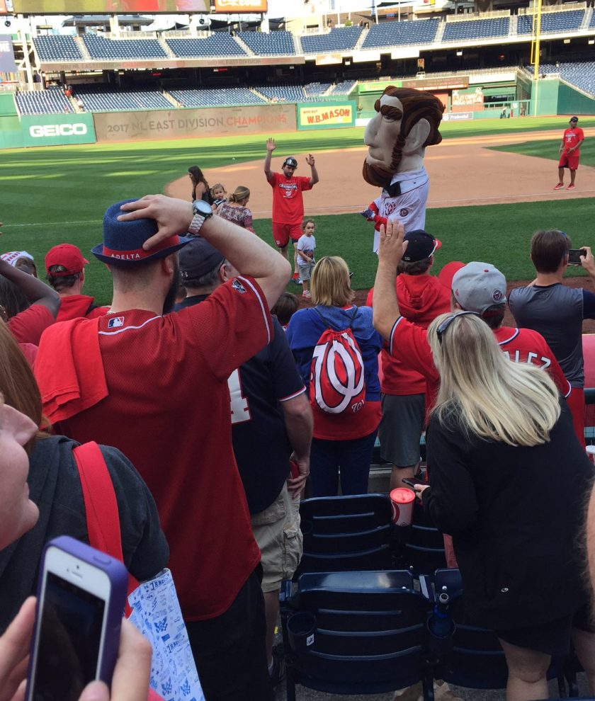 Nats fans and players celebrate