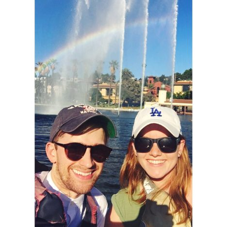 Claire and Andrew in LA
