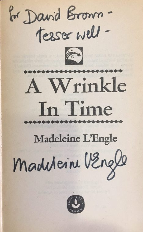 Signed copy of A Wrinkle in Time