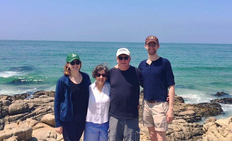 Family along Monterey Coast