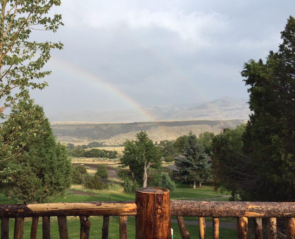 The Montana landscape following thunderstrom