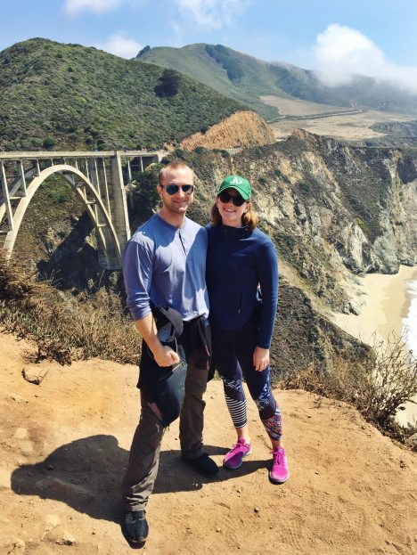 Claire and Blair at the Bixby Bridge