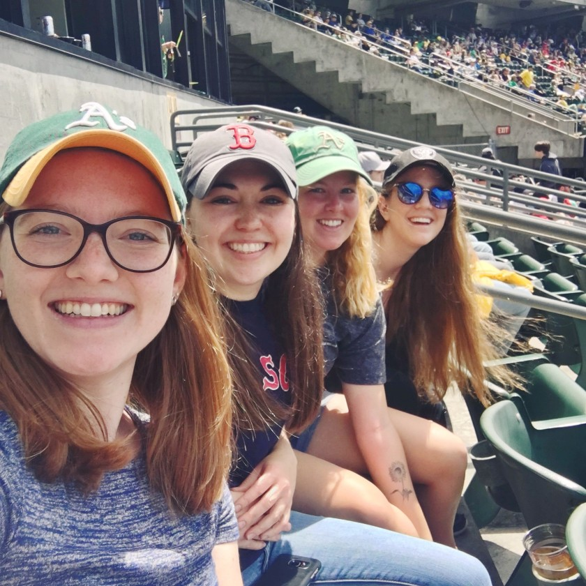 Claire at A's game