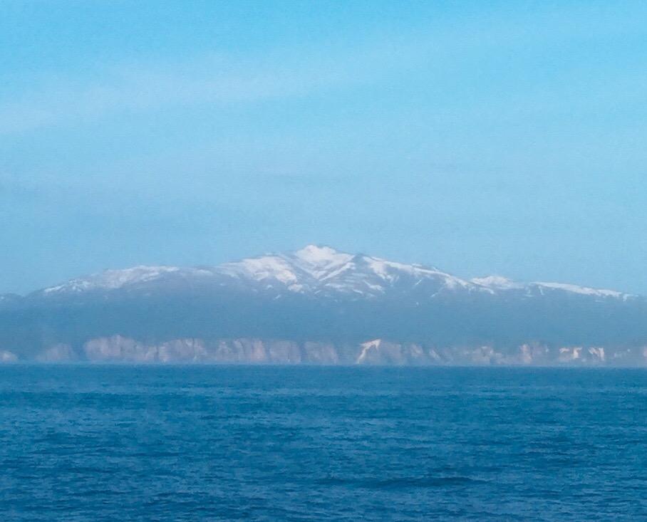 Snow covered mountains near Otaru