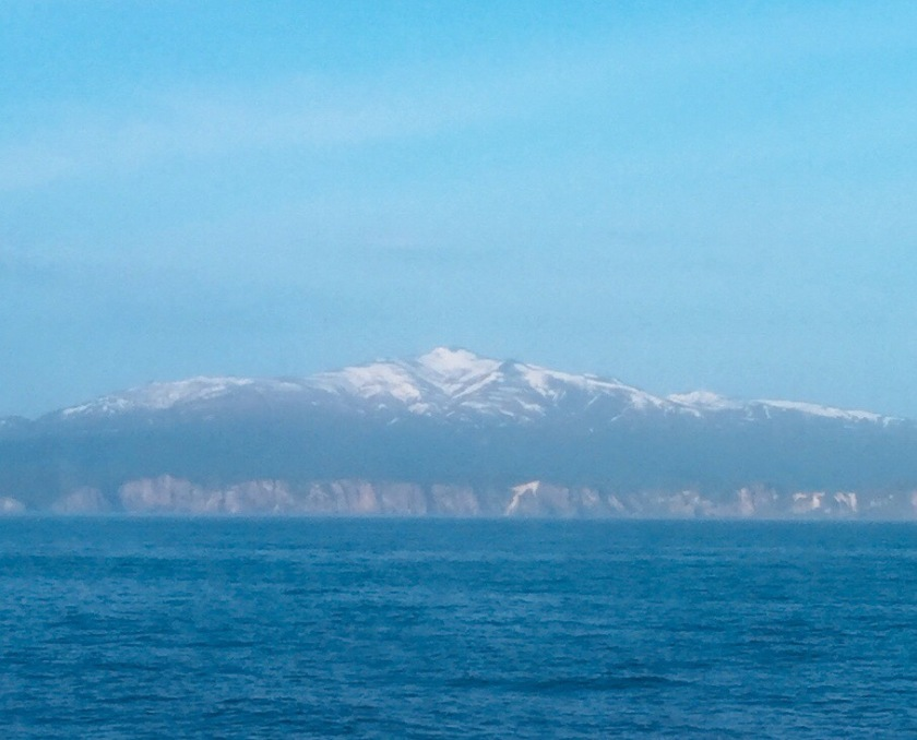 Snow covered mountains near Otaru