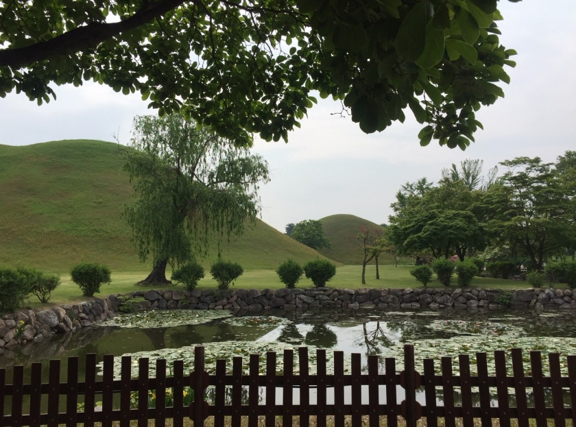 Royal burial mounds in South Korea