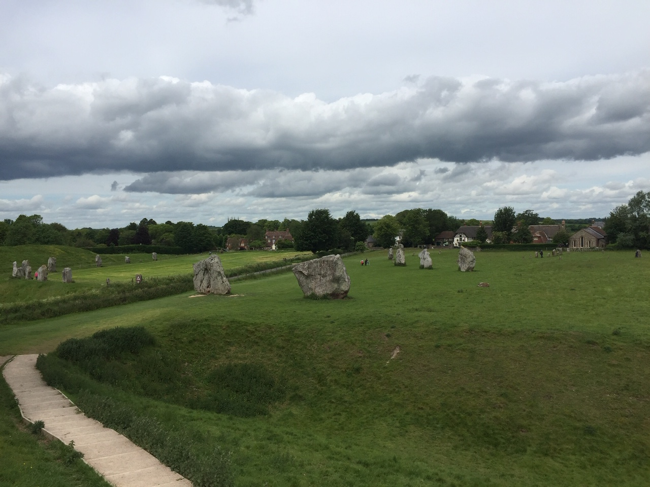 Circle of stones at Avebury