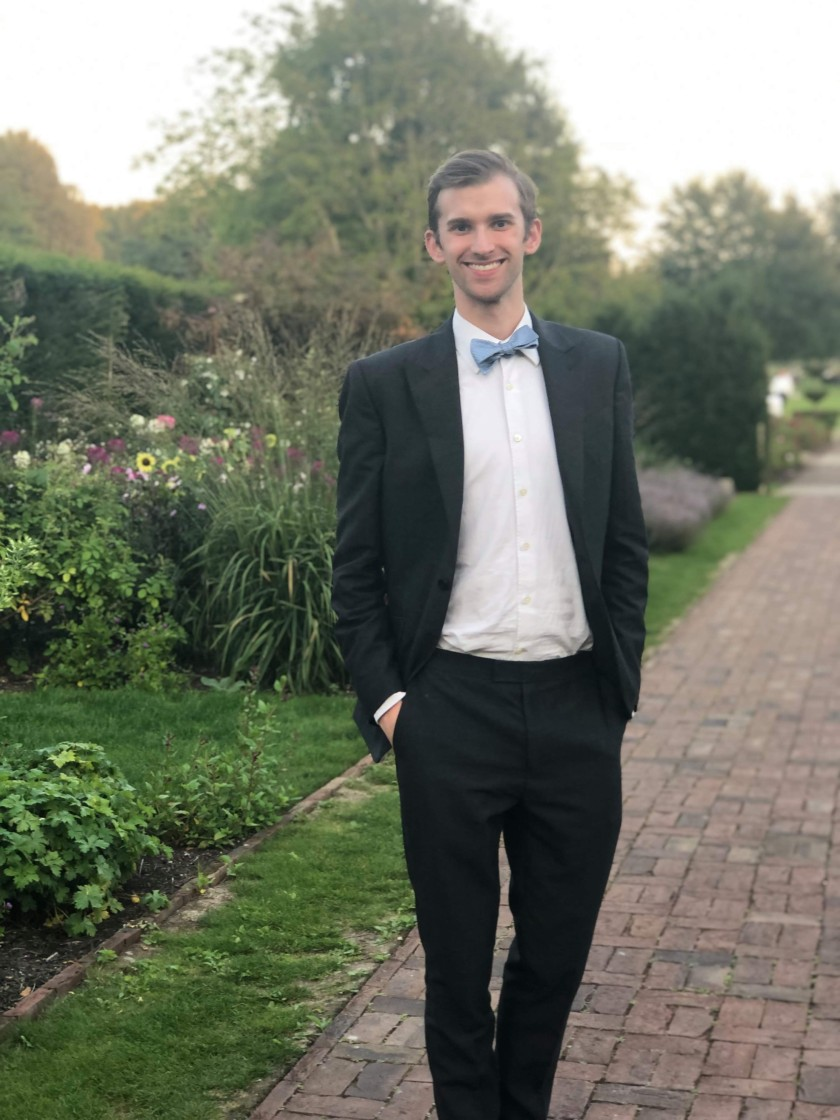Andrew in the gardens around Glyndebourne before seeing Handel's Rinaldo