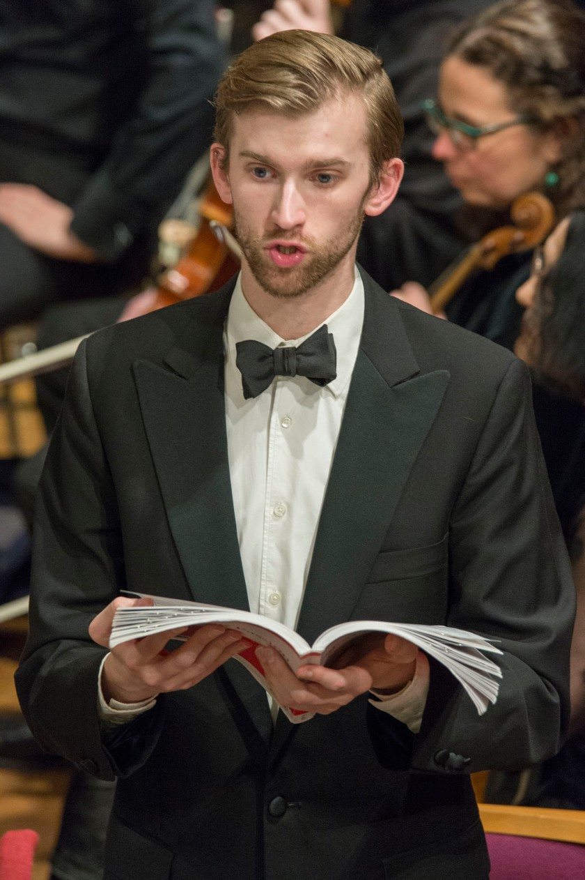 Andrew singing the Evangelist in Bach's St. Matthew Passion in Buckinghamshire