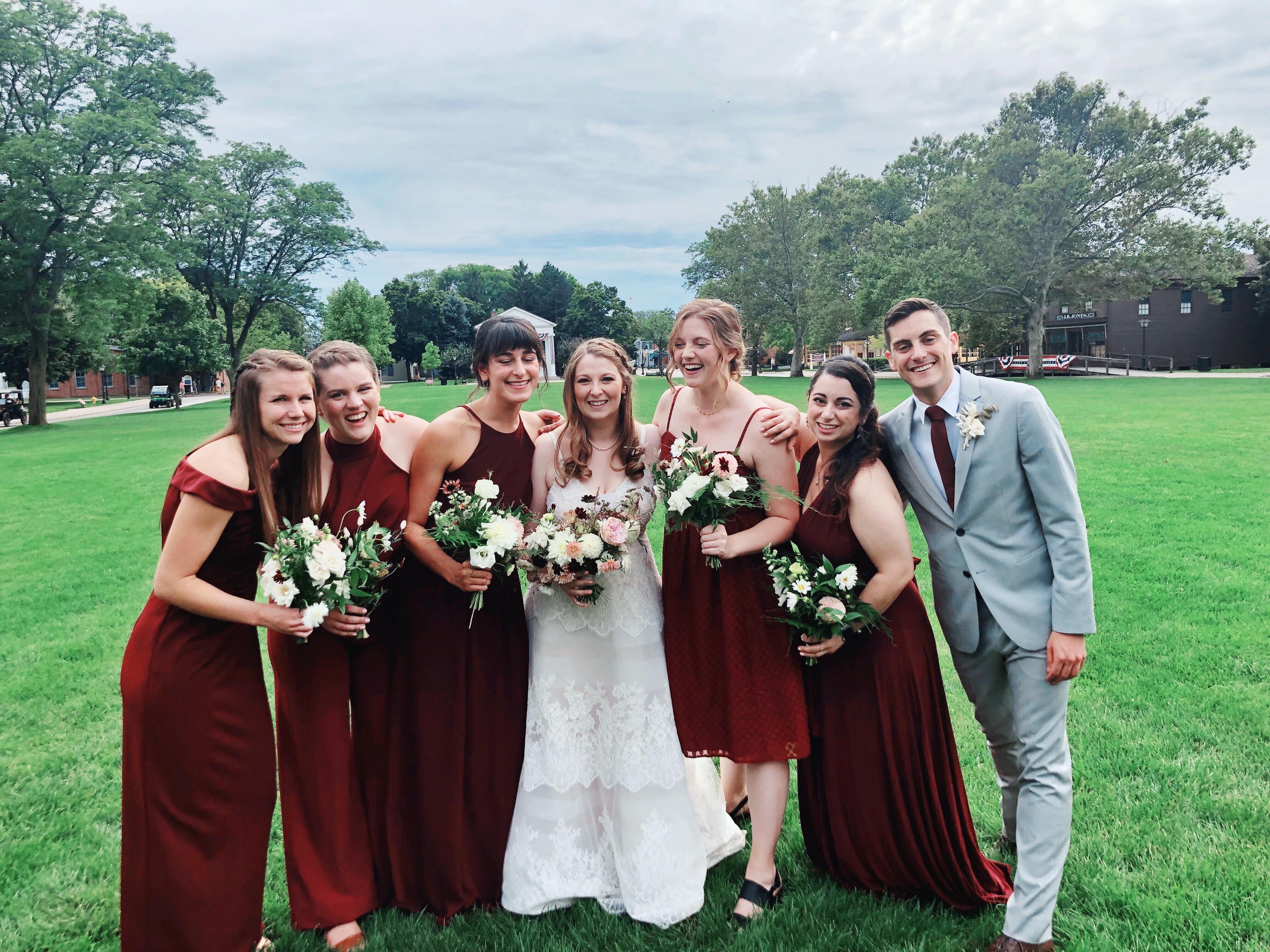 Pomona classmates at Susan's wedding
